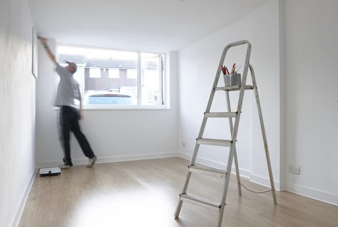 Schilderwerken appartement prijs schilder muren plafond deur vloeren - Appartement muur ...
