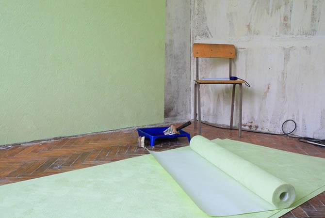 Muurverf Badkamer Kleur : Vliesbehang schilderen: ✅ prijs schilder tips & werkwijze
